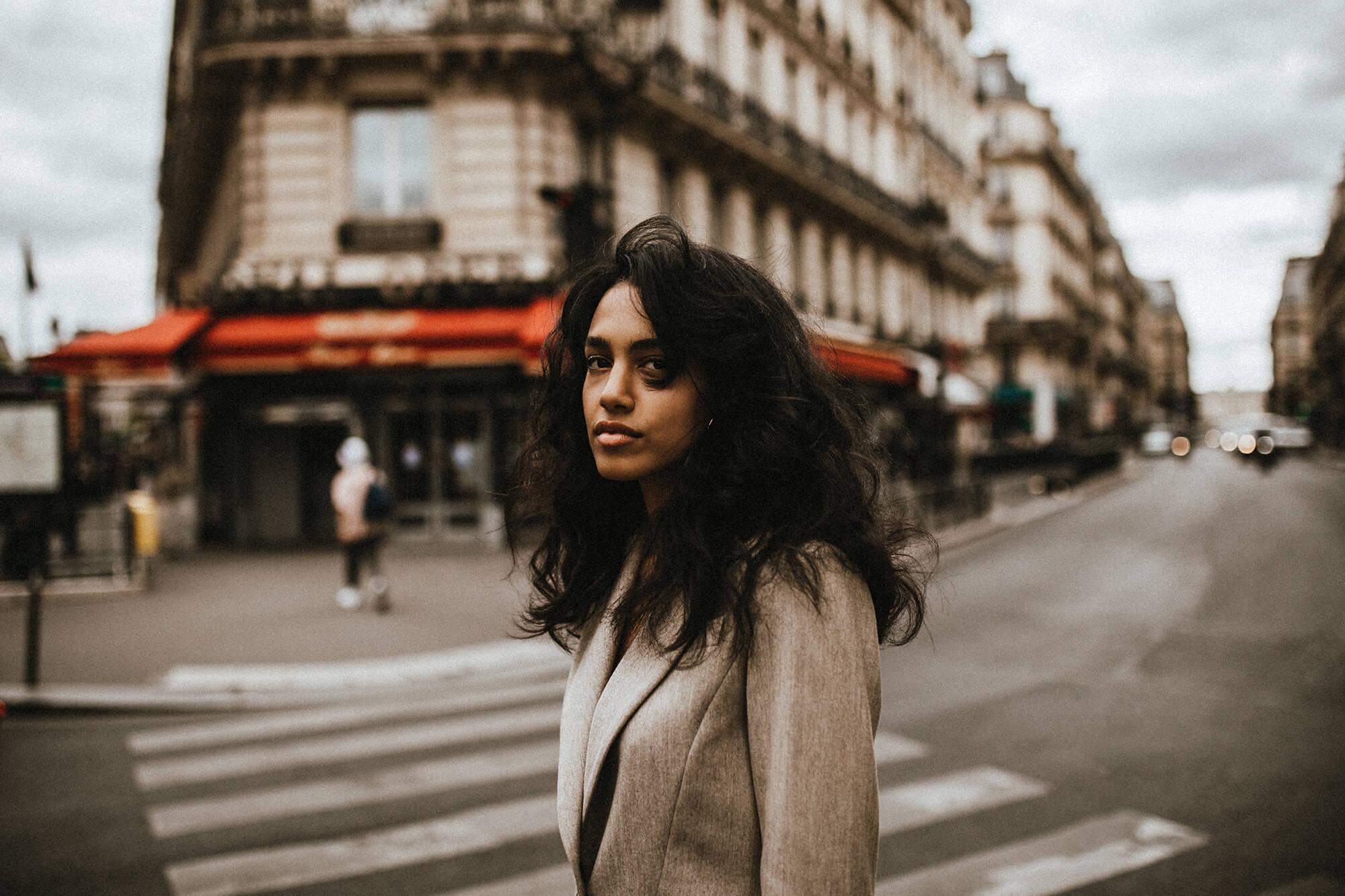 paris - girl - street