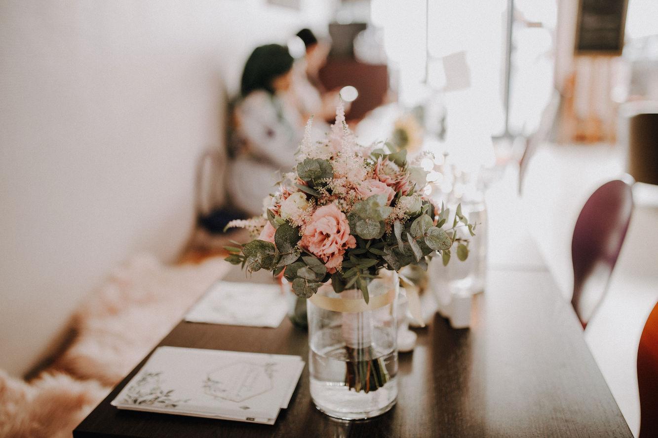 Brautstrauß hochzeitsfeier