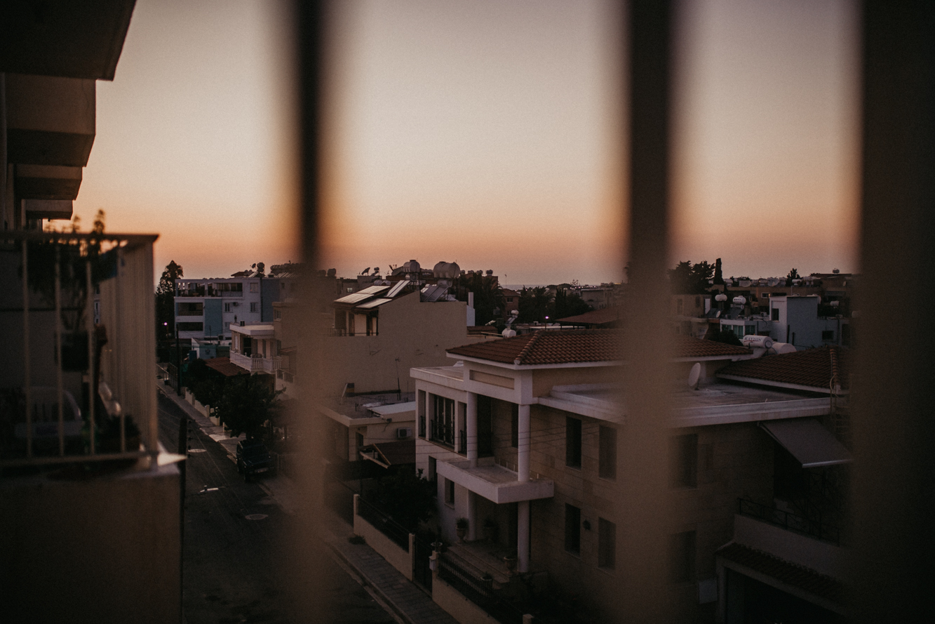 Paphos - Cyprus Nightlife - Sunset from the balcony