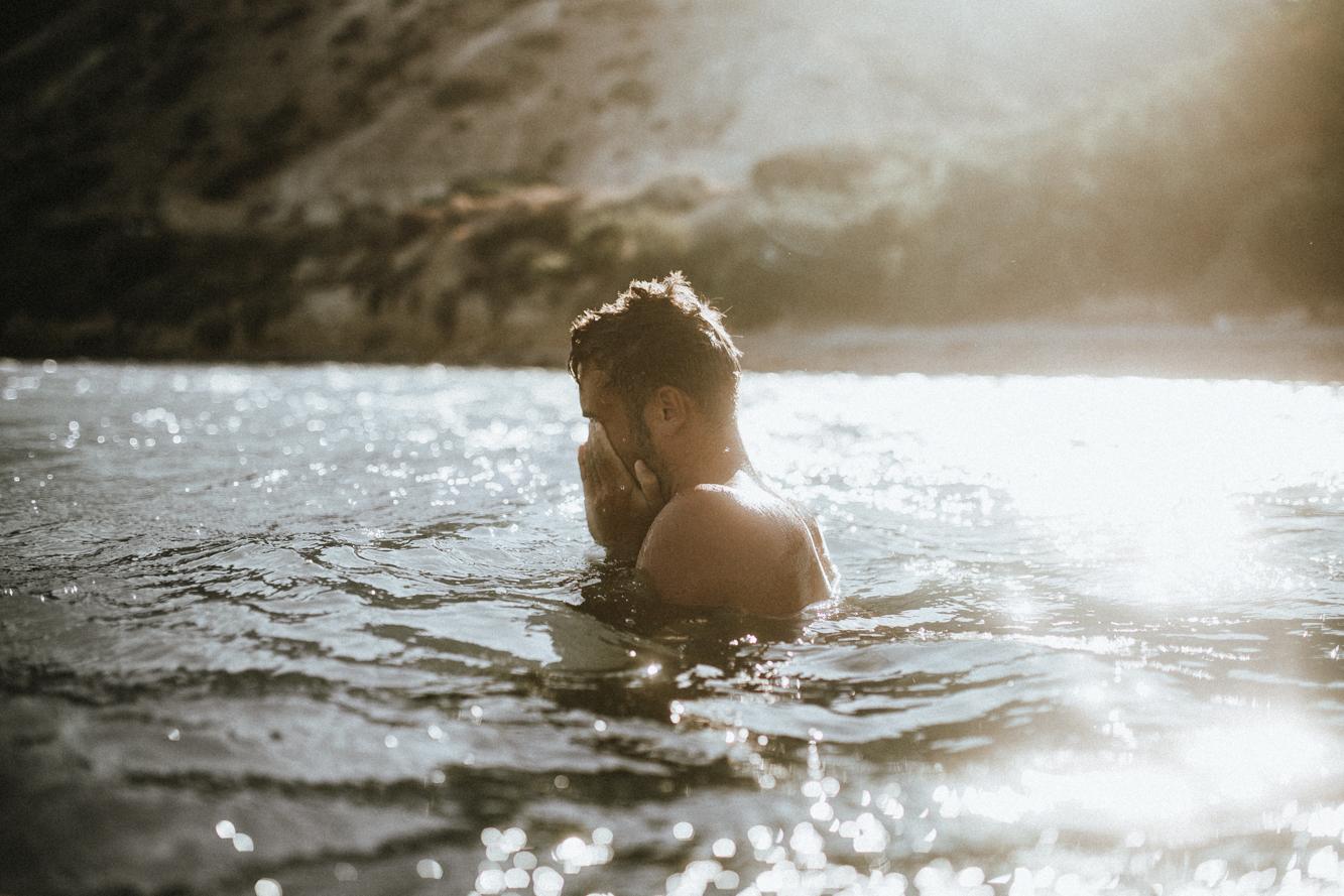 Boy in the water - Mediterranean Coast - Cyprus Beach