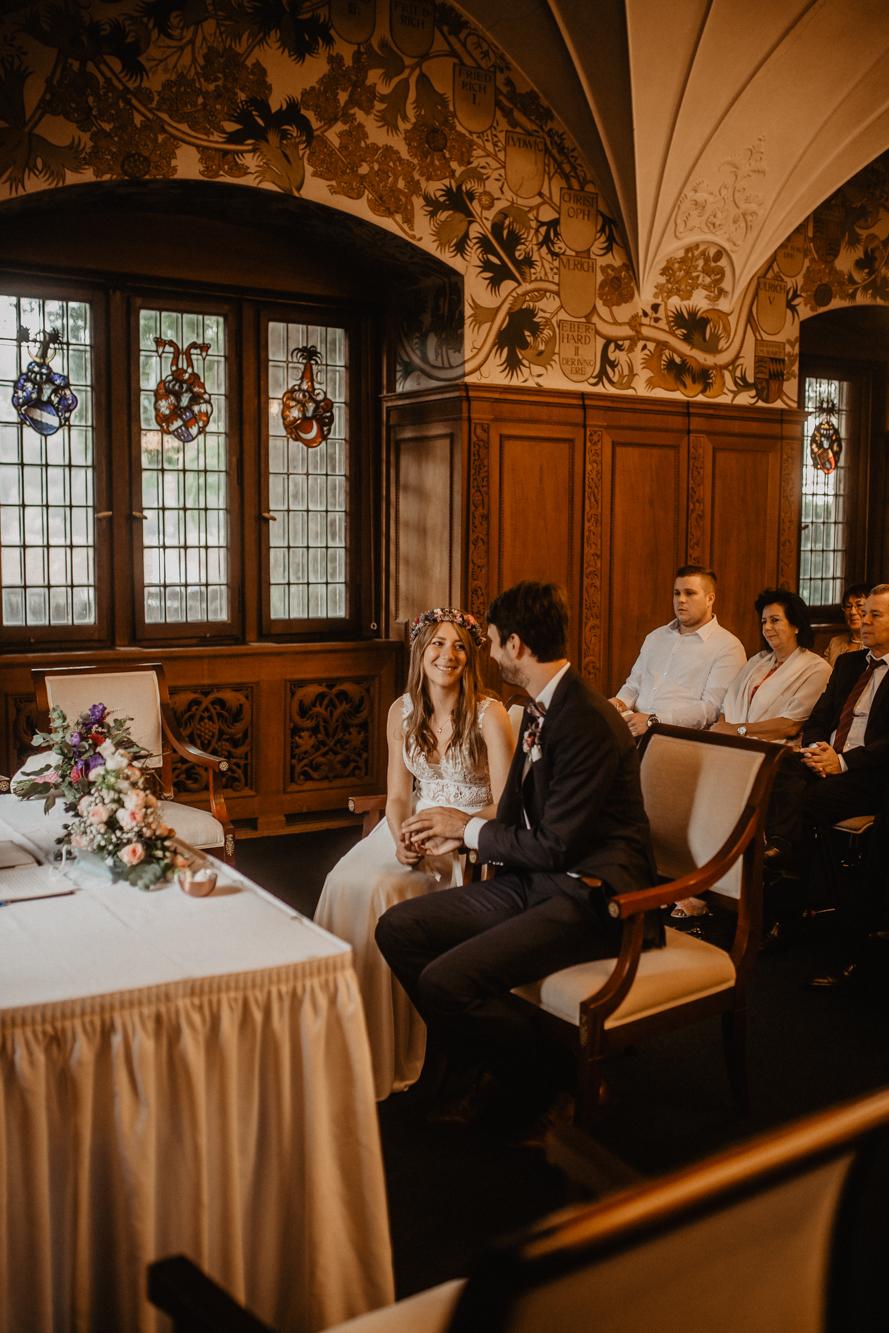 grüner Saal Bebenhausen - Hochzeitsfotograf tübingen - Trauung